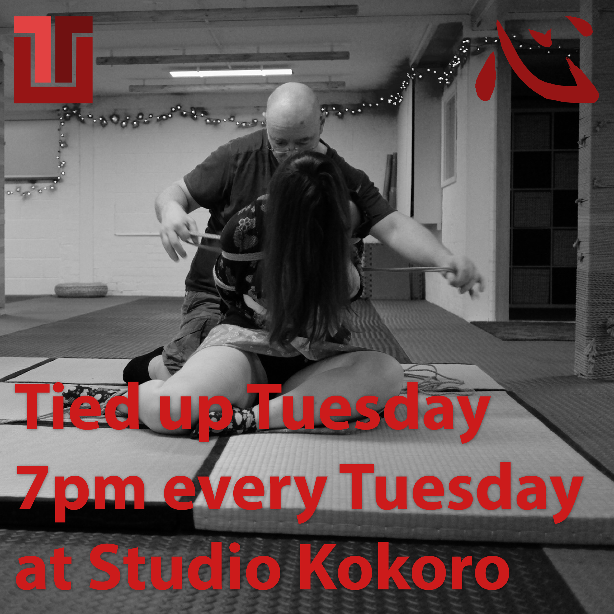 Tied up Tuesday at Studio Kokoro