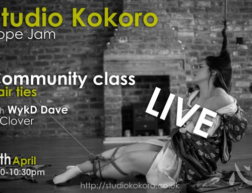 Studio Kokoro Live for April 2020: Rope Jam and Hair Ties Community Class